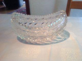 Bleikristall Schale,  Ovale Form Bild
