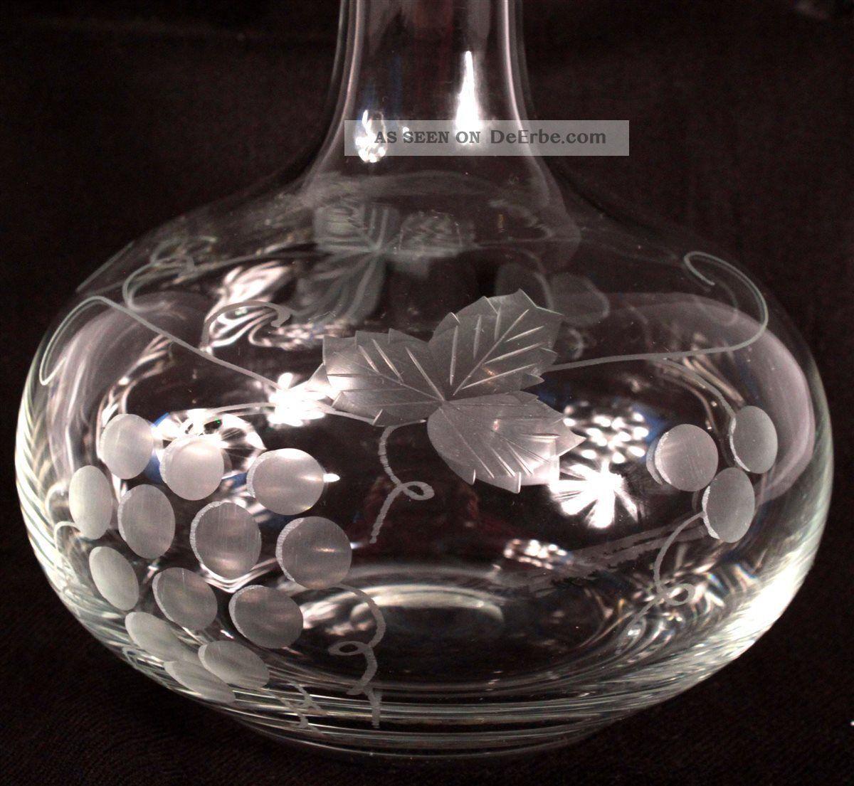 wein lik r whiskey karaffe flasche kristall ranken trauben dekander. Black Bedroom Furniture Sets. Home Design Ideas