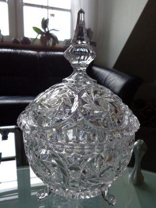 Große Bleikristall Bonbonniere Mit Schleuderstern Bild