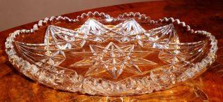 Große Alte Kristallschale Mit Sternendekor Durchmesser 20cm,  Höhe 7cm Bild