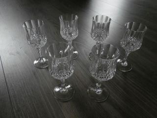 Christal D`arques - 6 Wunderschöne Weingläser - Kaum Benutzt Bild