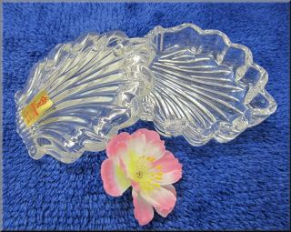 Muschelschale Kristallglas Muscheldose Geschenk - 24 Bleikristall -,  Ovp Bild
