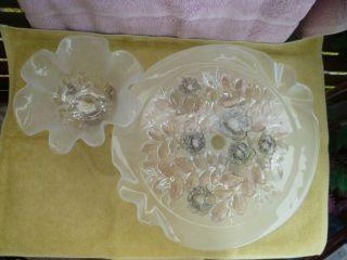 Kristall Tortenplatte Mit Passender Pralinenschale Je Auf Fuss Bild