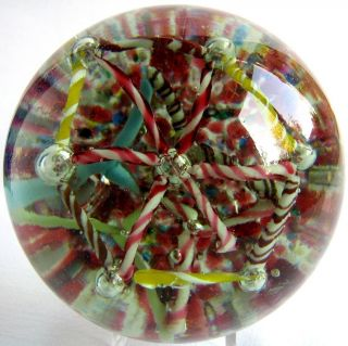 Briefbeschwerer / Paperweight BÖhmen Antik Spinne Mit Netz,  Rarität Magnum Bild