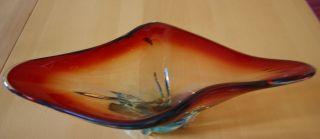 Wunderschöne Murano Glasschale / Schale Xxl,  Länge Ca.  41 Cm Bild