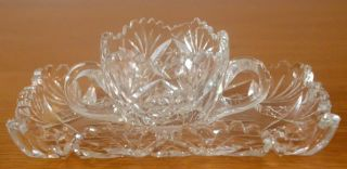 Kristall Bleikristall Platte Und Schale Für Pralinen Sowie Zucker,  Marmelade Bild