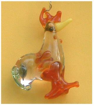 Glasdeko Miniaturen Filigran Tauben,  Hahn U.  Mehr Bild