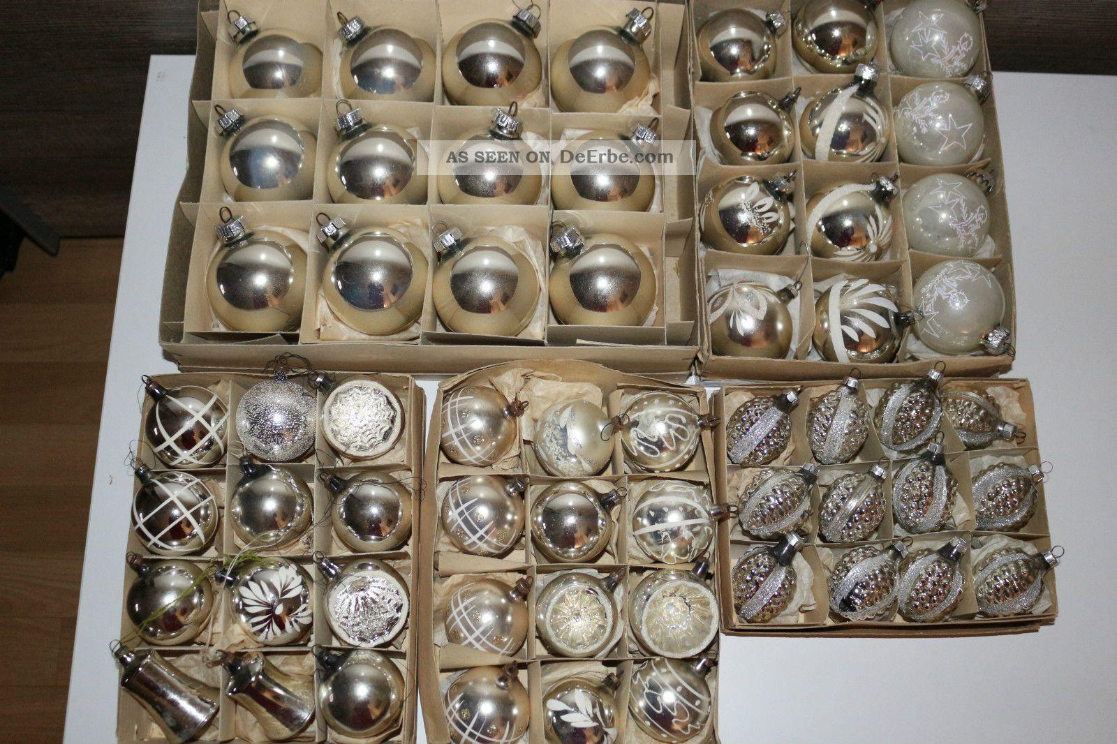 60 Tlg Alte Christbaumschmuck Weihnachtsbaumschmuck Weihnachtskugel