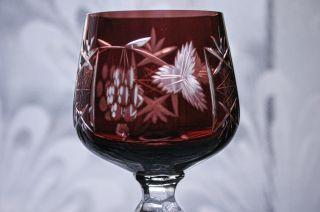 Bleikristall - Glas Traube Kristallglas Römer Vitrinengepflegt Bild
