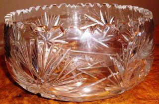 Schöne Alte Kristallschale Mit Dekorativem Muster Durchmesser 20cm,  Höhe 9,  5cm Bild