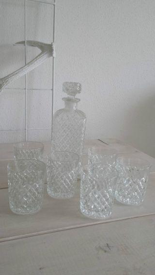 Whiskyglaskaraffe Inkl.  6 Gläser Bild