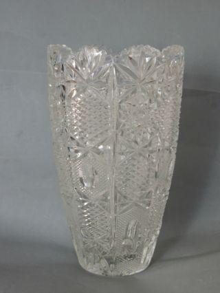 Schöne Große Schwere Kristall Vaase Gewicht über 2 Kg.  Höhe Ca.  26 Cm Bild