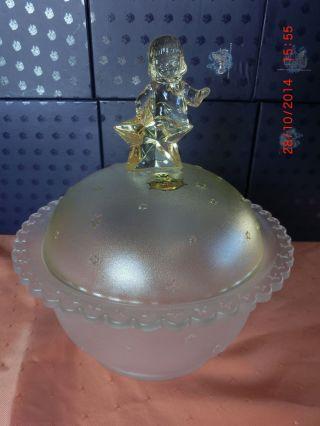 Schale,  Weihnachtsschale,  Glasschale,  Dose,  Engel,  Mit Deckel,  Figur Bleikristall Bild