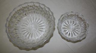 Kristallschale,  Bleikristall 1x Dessertschüssel & 1x Salatschüssel Glas Bild