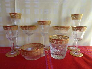 Saint Louis Thistle Kristallgläser Gold Bild
