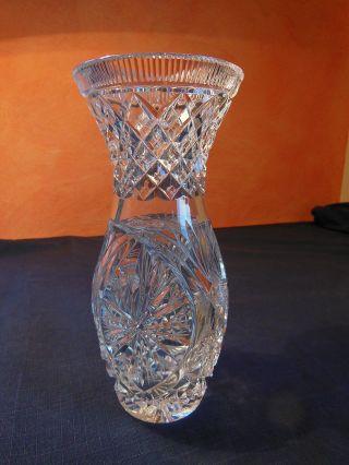 Schlanke Vase Bleikristall Klar Bild
