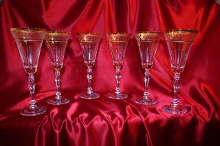 6 SektglÄser - Kristall Gläser Bohemia - 6 X 230 Ml - Model - Victoria - & Ovp Bild