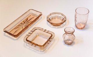 Rosa Pressglas - Rosalin - Schale,  Aschenbecher Trinkglas Bild