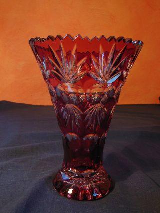 Ohag Bleikristall Vase Rubinrot Bild