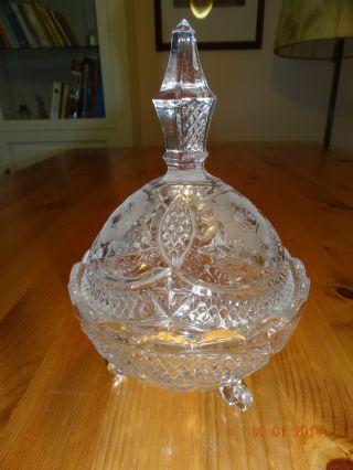 Bleikristall Deckel Dose Schüssel Vase Kristall Schale Kristall Art Deco Glas Bild
