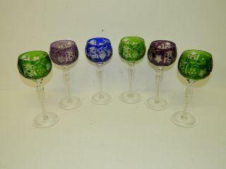 Nachtmann,  Kristallgläser,  6 X Römer,  Trauben Schliff,  Rare Gläser,  22 Cm Bild