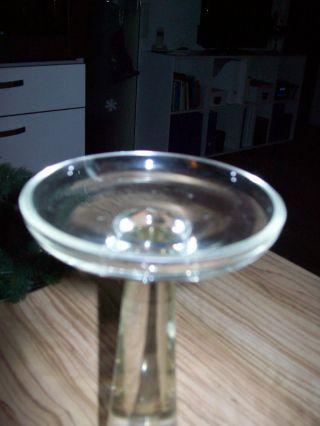 Kerzenständer 2 Stk.  - - - Glas - - - 23cm Hoch,  Schwere Qualität - - Bild