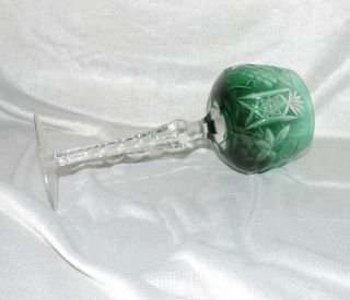 Glas Römer Likörserie Likör Dunkelgrün Bleikristall Ca.  H.  13,  5cm Stern Traube Bild
