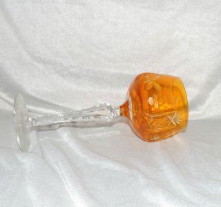 Glas Römer Weinserie Wein Orange Bleikristall H.  20cm D.  7cm Weinrebe Stern Bild