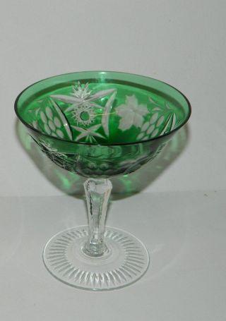 Nachtmann,  Kristallgläser,  1 X Sektschale,  Trauben Schliff,  Rares Glas,  12 Cm Bild