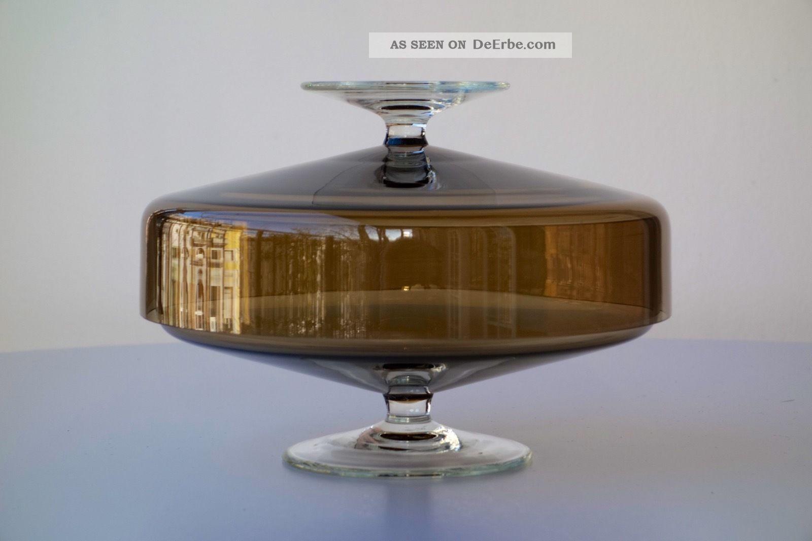 schott zwiesel heinrich l ffelhardt glasdose auf fu dose schale doppelschale. Black Bedroom Furniture Sets. Home Design Ideas