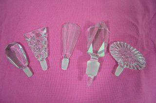 5 Große Stöpsel Kristallglas Stopsel Verschluss Karaffen Stopfen Für Sammler - A - Bild
