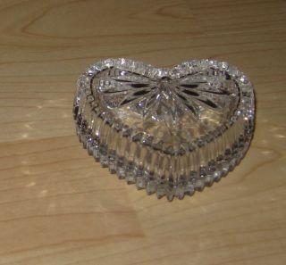 Nachtmann Bleikristall / Herzdose / Dekorative Kristallschale Mit Deckel Bild