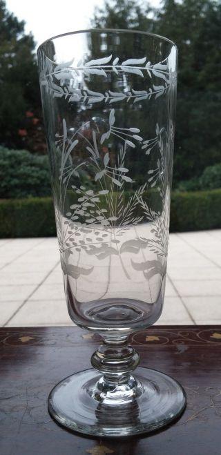Rarität Biedermeier Glas Pokal Sektglas Um 1850 - 60 Handgeschliffen Antik Bild