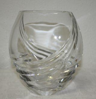 Sehr Edle Bleikristall Vase Schöner Schliff,  Oval,  Bauchig Bild