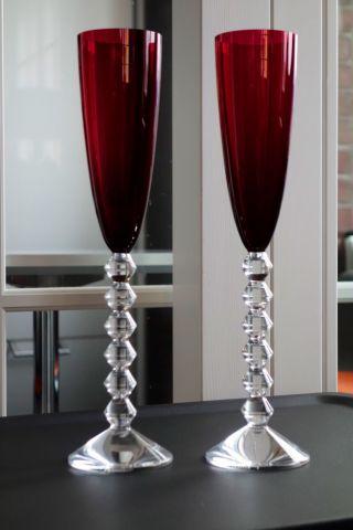 2x Baccarat VÉga Champagnerglas Sektglas Sektflöte Champagnerkelch Sektkelch Bild