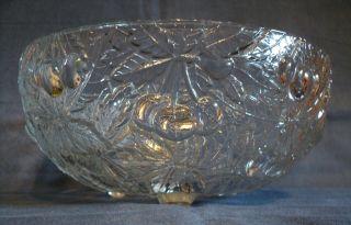 Schüssel Schale ☆ ¨ ☆ Dekor Kirsche Kristallglas Kristall Füße ☆ ¨ ☆ 21,  5 Cm Bild