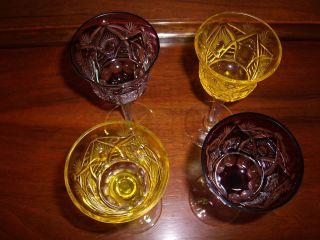 4 Stück Römer Weingläser Geschliffen Bild