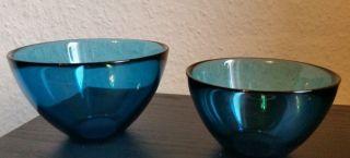 2 Schalen Vintage Orrefors Fuga Glas Sven Palmqvist Schüssel Schweden Pressglas Bild