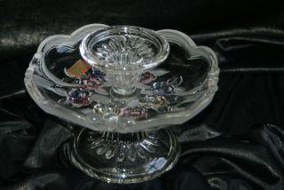 Wunderschöne Kristallglasschale Mit Kerzenleuchter,  Geschliffen,  Joska Design Bild