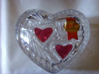 Bonboniere Herzdose Deckeldose - Bleikristall Bild