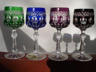 Bleikristall Römer Likörglas Trischler Winterhalder Überfangglas Bild