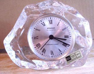 Staiger Tischuhr Bleikristall Barthmann Cristall Handarbeit West Germany,  1,  7kg Bild