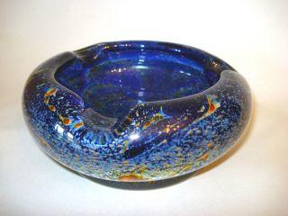 Seltener Wmf Ikora - Glas Aschenbecher In Blau,  Karl Wiedmann,  Geislingen,  40/50er Bild