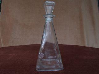 Große Rechteckige Karaffe Aus Glas - Dezent U.  Neutral - Für Whisky,  Cognac O.  ä. Bild