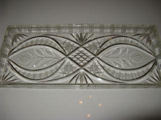 Antike Kristall Königskuchen/kastenkuchen Platte Mit Sternschliff Rosendekor Bild