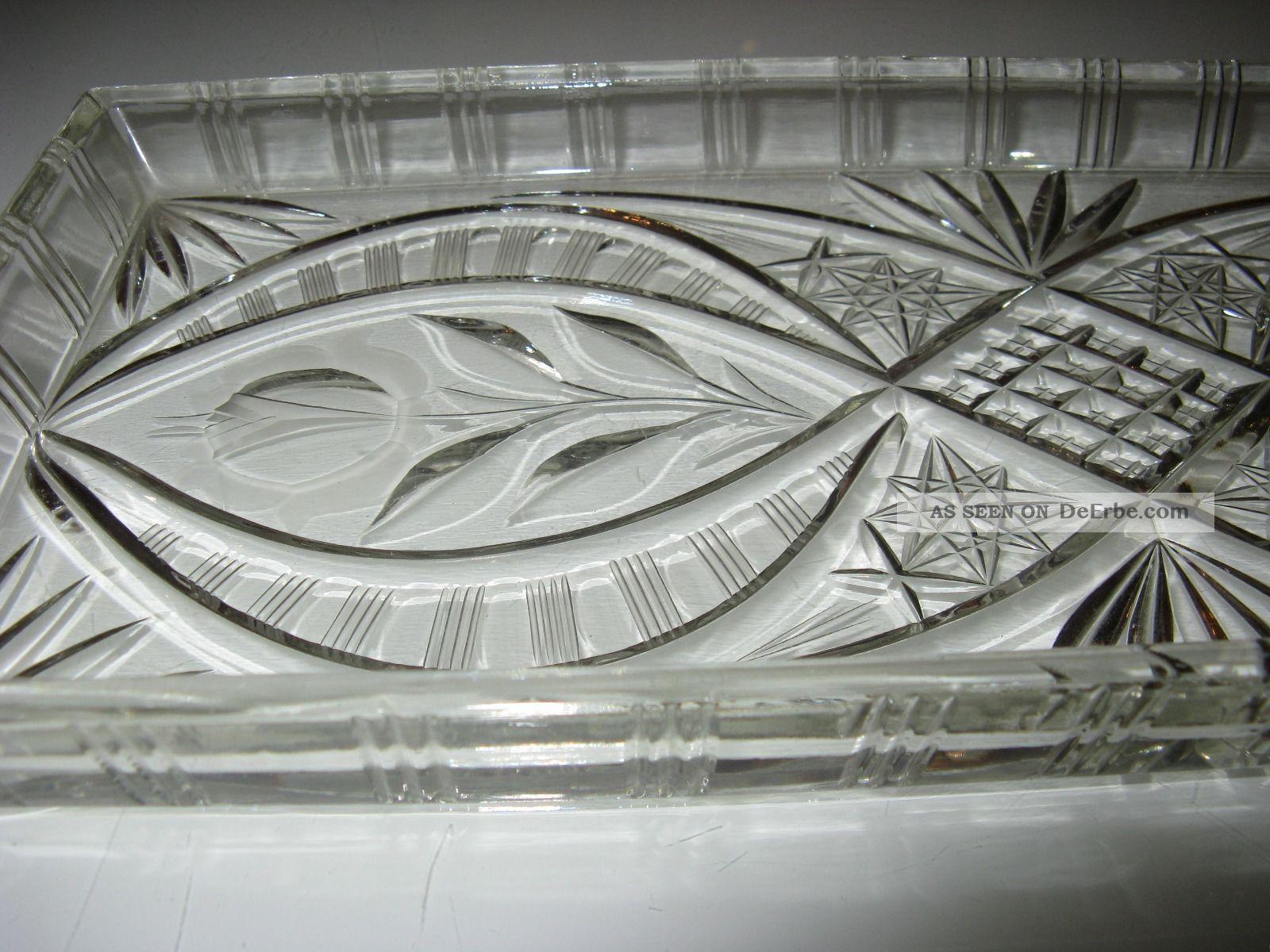 antike kristall k nigskuchen kastenkuchen platte mit. Black Bedroom Furniture Sets. Home Design Ideas