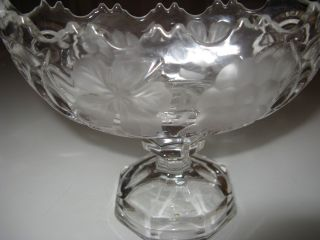 Antike Kristall Schale Mit Fuss Bild