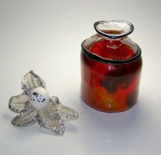 Erwin Eisch Studioglas Aquarellfarbene Vase Signiert Eisch 91 Bild
