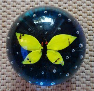 Alter Briefbeschwerer / Paperweight Schmetterling Bild