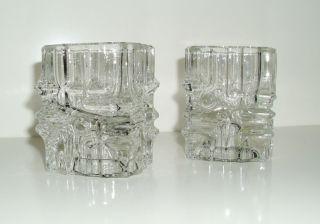 Kerzenhalter Glas Würfel 70er Kult Retro Für Stabkerze U.  Teelicht Shabby Bild